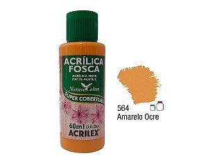 Acrilex - Tinta Acrílica Fosca 60ml - Amarelo Ocre (564)