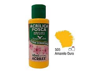 Acrilex - Tinta Acrílica Fosca 60ml - Amarelo Ouro (505)
