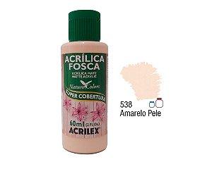Acrilex - Tinta Acrílica Fosca 60ml - Amarelo Pele (538)