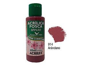Acrilex - Tinta Acrílica Fosca 60ml - Arandano (914)