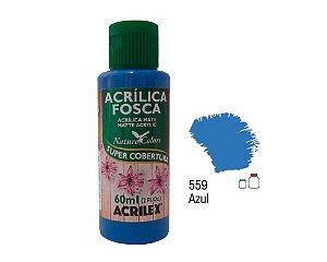 Acrilex - Tinta Acrílica Fosca 60ml - Azul (559)