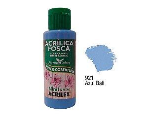 Acrilex - Tinta Acrílica Fosca 60ml - Azul Bali (921)