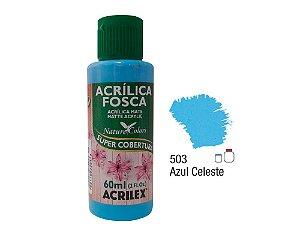 Acrilex - Tinta Acrílica Fosca 60ml - Azul Celeste (503)