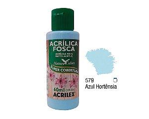 Acrilex - Tinta Acrílica Fosca 60ml - Azul Hortênsia (579)