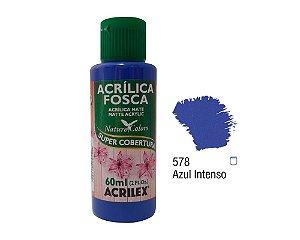 Acrilex - Tinta Acrílica Fosca 60ml - Azul Intenso (578)