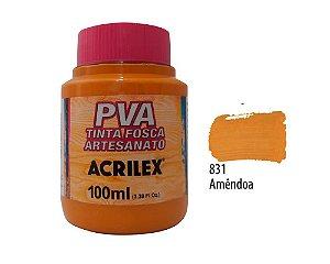 Acrilex - Tinta Fosca PVA p/ Artesanato 100ml - Amêndoa (831)