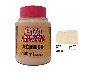 Acrilex - Tinta Fosca PVA p/ Artesanato 100ml - Areia (817)