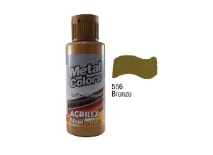 Acrilex - Tinta Metal Colors 60ml - Bronze (556)