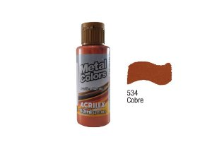 Acrilex - Tinta Metal Colors 60ml - Cobre (534)
