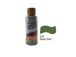 Acrilex - Tinta Metal Colors 60ml - Verde Oliva (545)