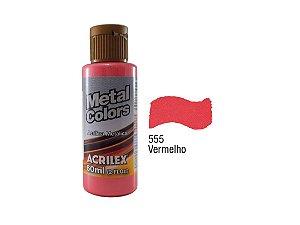 Acrilex - Tinta Metal Colors 60ml - Vermelho (555)
