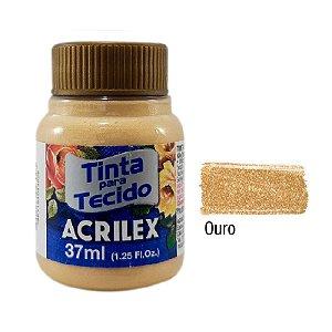 Acrilex - Tinta p/ Tecido - Metalica 37ml - Ouro (532)