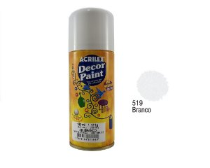 Acrilex -Tinta em Spray 150ml - Decor Paint - Branco (519)