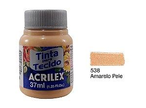 Acrilex - Tinta p/ Tecido Fosca 37ml - Amarelo Pele (538)