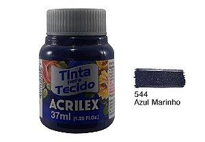 Acrilex - Tinta p/ Tecido Fosca 37ml - Azul Marinho (544)