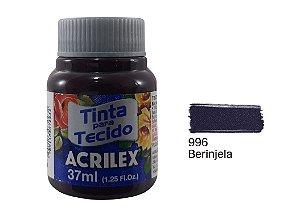 Acrilex - Tinta p/ Tecido Fosca 37ml - Beringela (996)