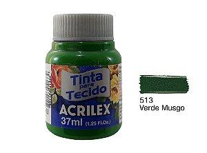 Acrilex - Tinta p/ Tecido Fosca 37ml - Verde Musgo (513)
