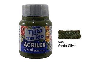 Acrilex - Tinta p/ Tecido Fosca 37ml - Verde Oliva (545)