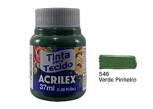 Acrilex - Tinta p/ Tecido Fosca 37ml - Verde Pinheiro (546)