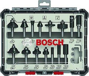 Bosch - Set Fresas 15 Pçs Mistas Haste de 14