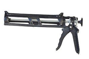 Akfix - Pistola de Plastico Preta p/ Aplicação de Silicone - (P-30)