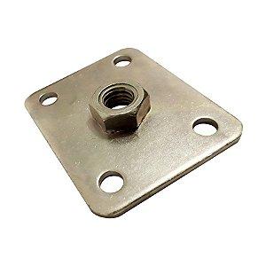 Minutex - Placa c/ Porca Fixa 60 x 50mm - Aço Galvanizado