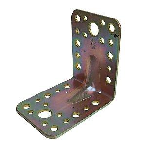 Minutex - Placa de Junção Dobrada 65 x 85mm - Aço Galvanizado