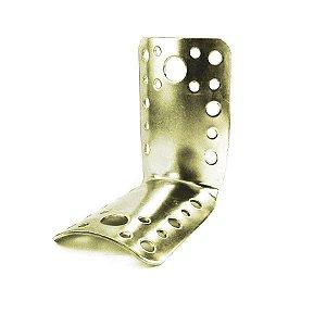 Minutex - Placa de Junção Dobrada p/ Eucalipto 80 x 100mm - Aço Galvanizado