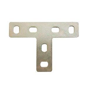 Minutex - Placa de Junção T 70 x 34mm - Aço Galvanizado