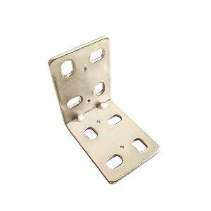 Minutex - Placa Dupla Dobrada Ajustável 40 x 40mm - Aço Galvanizado