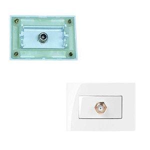 MarGirius - Conjunto 1 Tomada Coaxial Sleek 75 Ohms - Branco (PA016155)