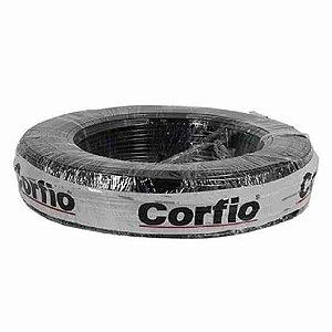 Corfio Granel - Rolo Cabo Flexível - 750V - 2,5mm - 1MT - Preto - Antichama - BWF