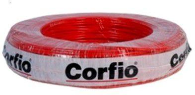 Corfio Granel - Rolo Cabo Flexível - 750V - 2,5mm - 1MT - Vermelho - Antichama - BWF