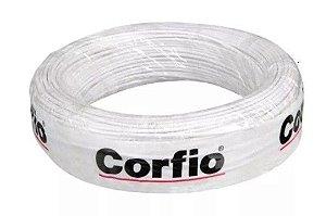 Corfio Granel - Rolo Cabo Flexível - 750V - 4,0mm - 1MT - Branco - Antichama - BWF