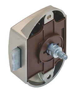 Hafele - Fechadura Push-Lock - D25 - Plastificado - Niquelado Fosco