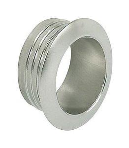 Hafele - Roseta Push-Lock - D34x12,5mm - Plastificado - Niquelado Fosco