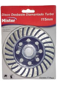 Mister - Disco Desbaste Diamantado 115mm 100613
