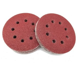 MTX - Disco De Lixa Com Furo e Velcro Grão 100 - 5 Pçs de 125mm - 738059