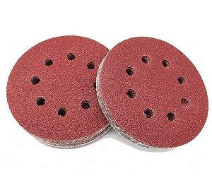 MTX - Disco De Lixa Com Furo e Velcro Grão 40 - 5 Pçs de 125mm