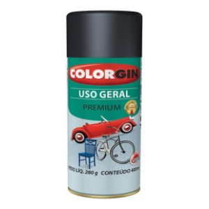 Colorgin - Tinta Spray Premium Uso Geral 400ml - Preto Brilhante - 52001