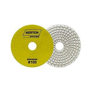 Norton Granel - Disco Diamantado Brilho D'Água 100MM GRÃO 100 - 1 UN