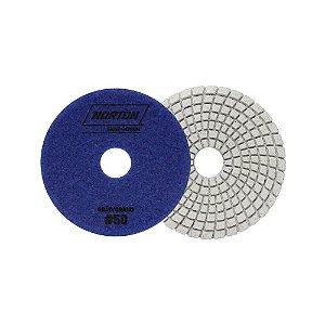 Norton Granel - Disco Diamantado Brilho D'Água 100MM GRÃO 50 - 1 UN