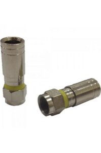 Alumínio Santa Catarina - Conector Profissional F Compressão RG6/ PRO6