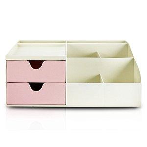 Organizador de Mesa Multifuncional G Rosa - Jacki Design