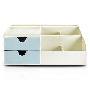 Organizador de Mesa Multifuncional G Azul - Jacki Design