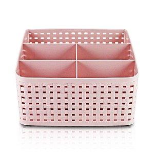 Organizador de Mesa Multifuncional Rosa - Jacki Design