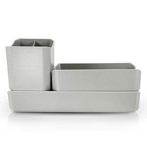 Organizador Multiuso 3 Peças Cinza - Jacki Design
