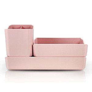 Organizador Multiuso 3 Peças Rosa - Jacki Design