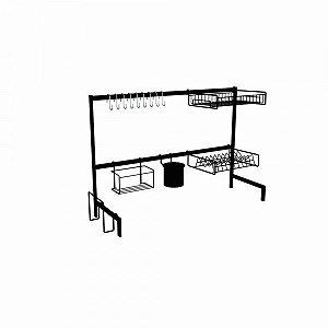 DiCarlo - Cozinha Autossustentável 82cm Elegance Preto