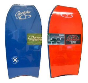 Prancha Bodyboard Genesis Modelo Extreme Laranja com Azul